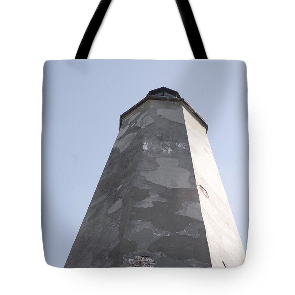 Lighthouse Tote Bag featuring the photograph Old Baldy Lighthouse Nc by Nadine Rippelmeyer