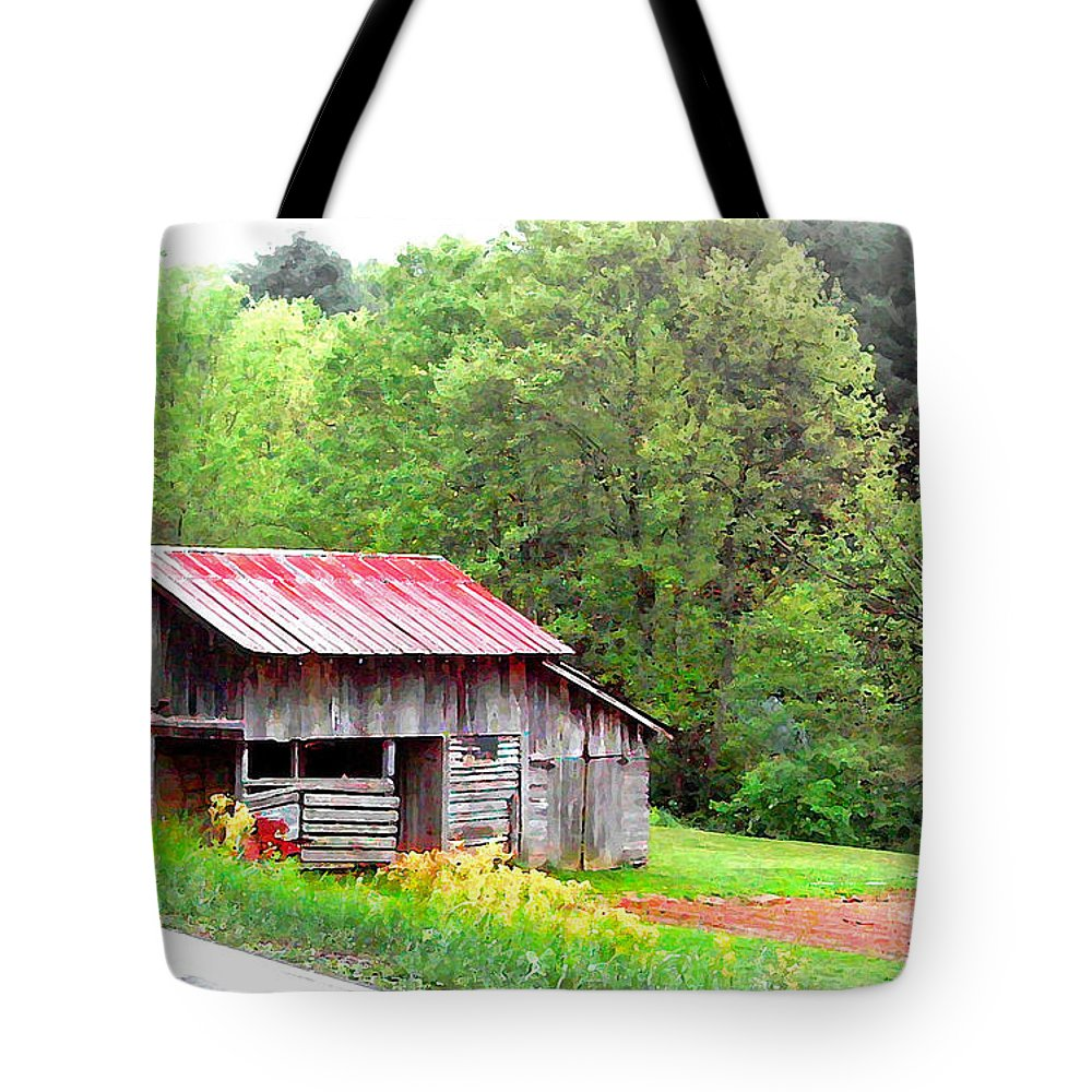 Barns Tote Bag featuring the photograph Old Barn Near Willamson Creek by Duane McCullough