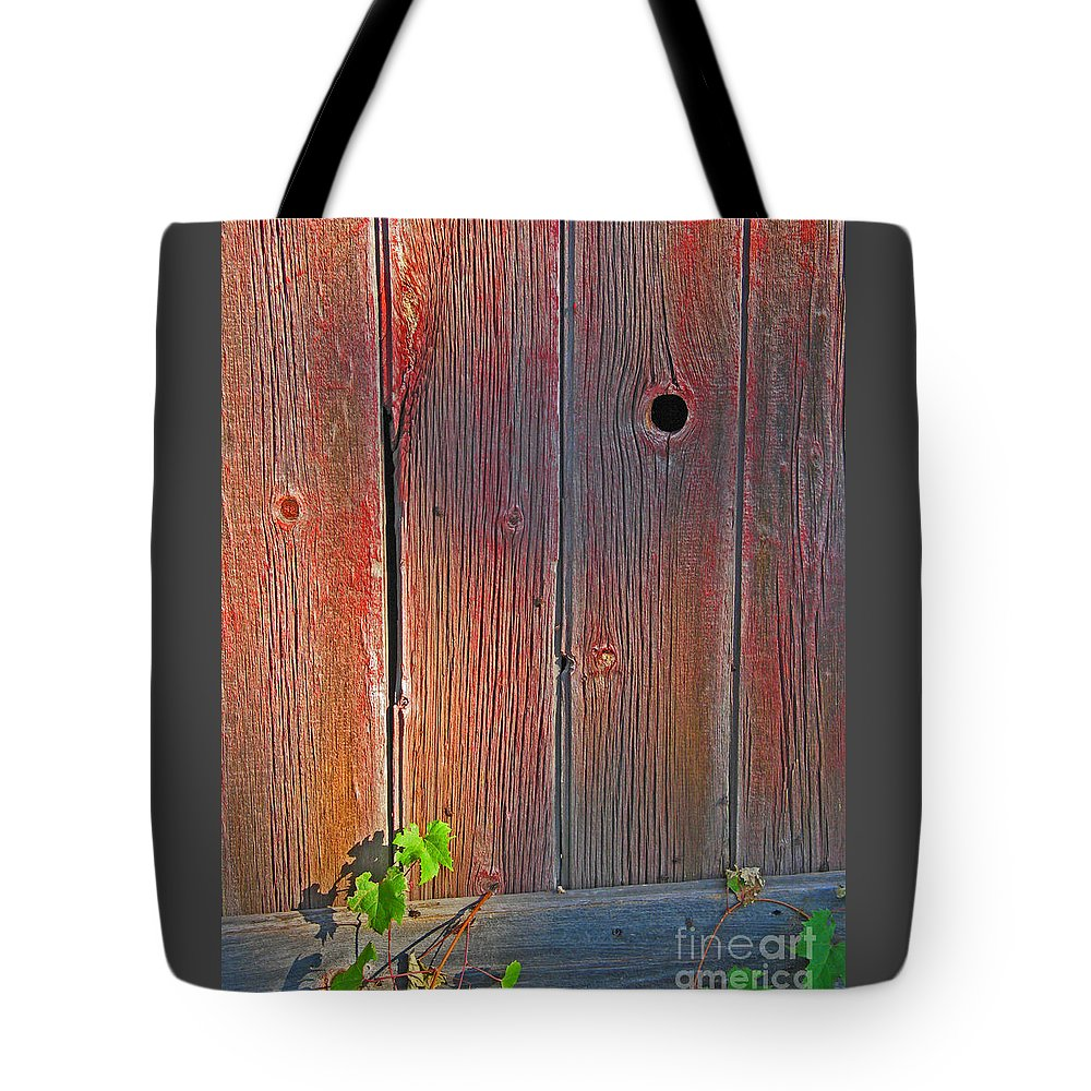 Barn Tote Bag featuring the photograph Old Barn Wood by Ann Horn