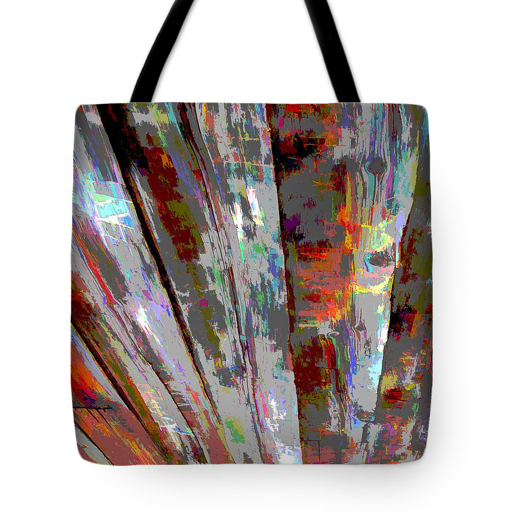 Abstract Tote Bag featuring the photograph Old Boards by Barbara McDevitt