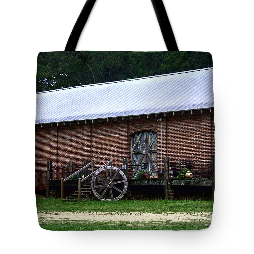 Train Tote Bag featuring the photograph Old Building by Debra Forand