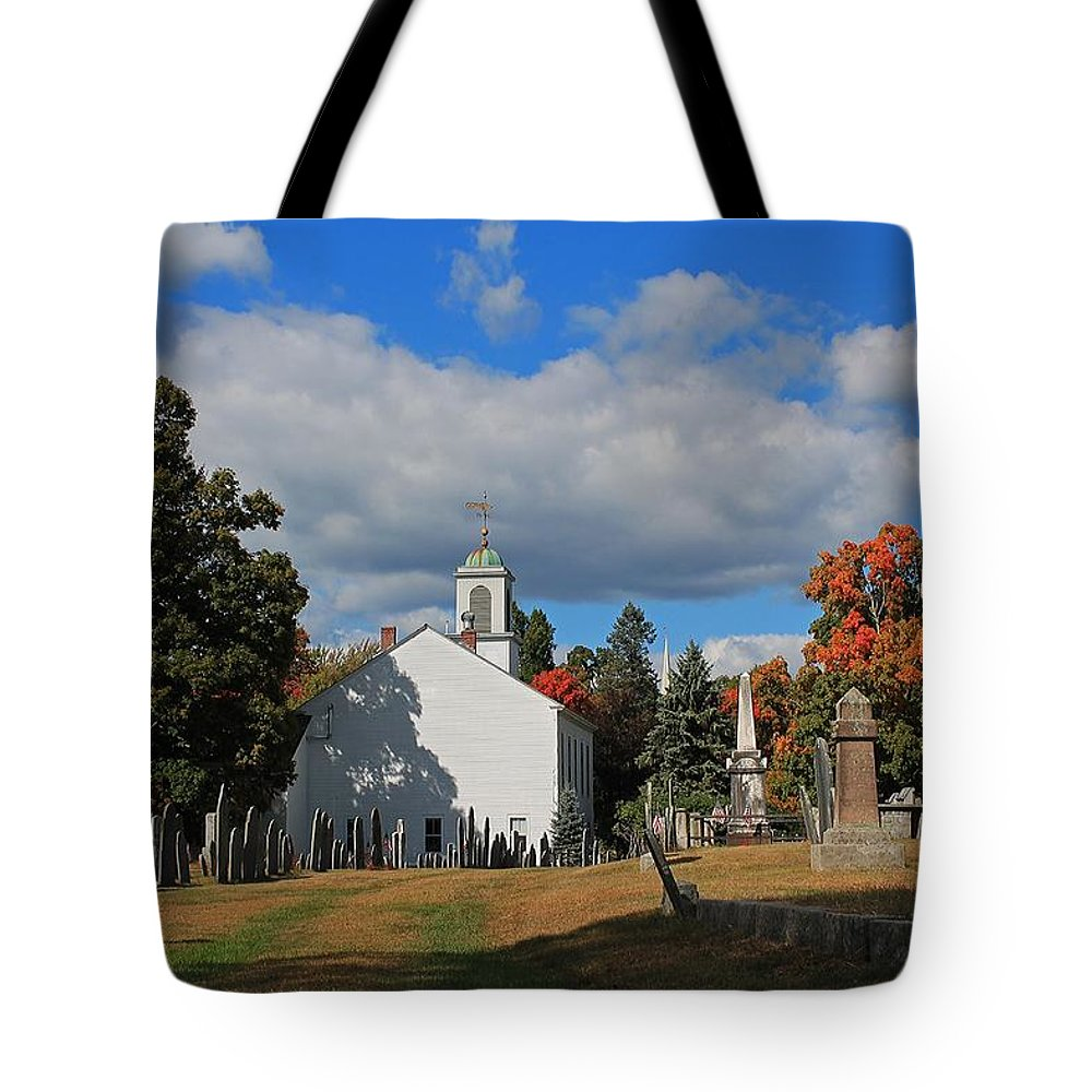 Cemetery Tote Bag featuring the photograph Old Cemetery Harvard Ma by Michael Saunders