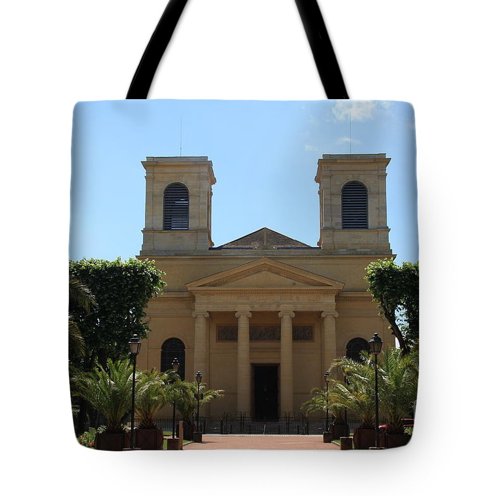 Church Tote Bag featuring the photograph Old Church - Macon - Burgundy by Christiane Schulze Art And Photography