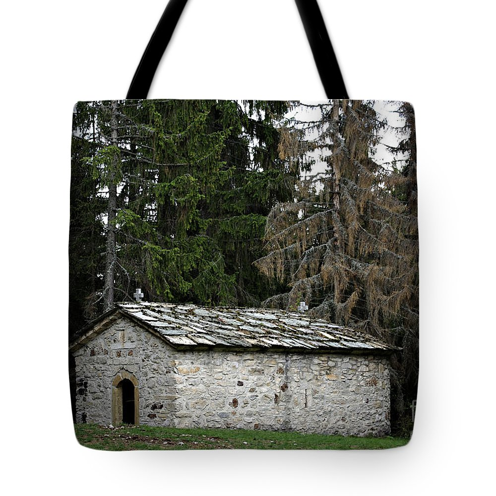 Ancient Tote Bag featuring the photograph Old Church by Zoran Berdjan