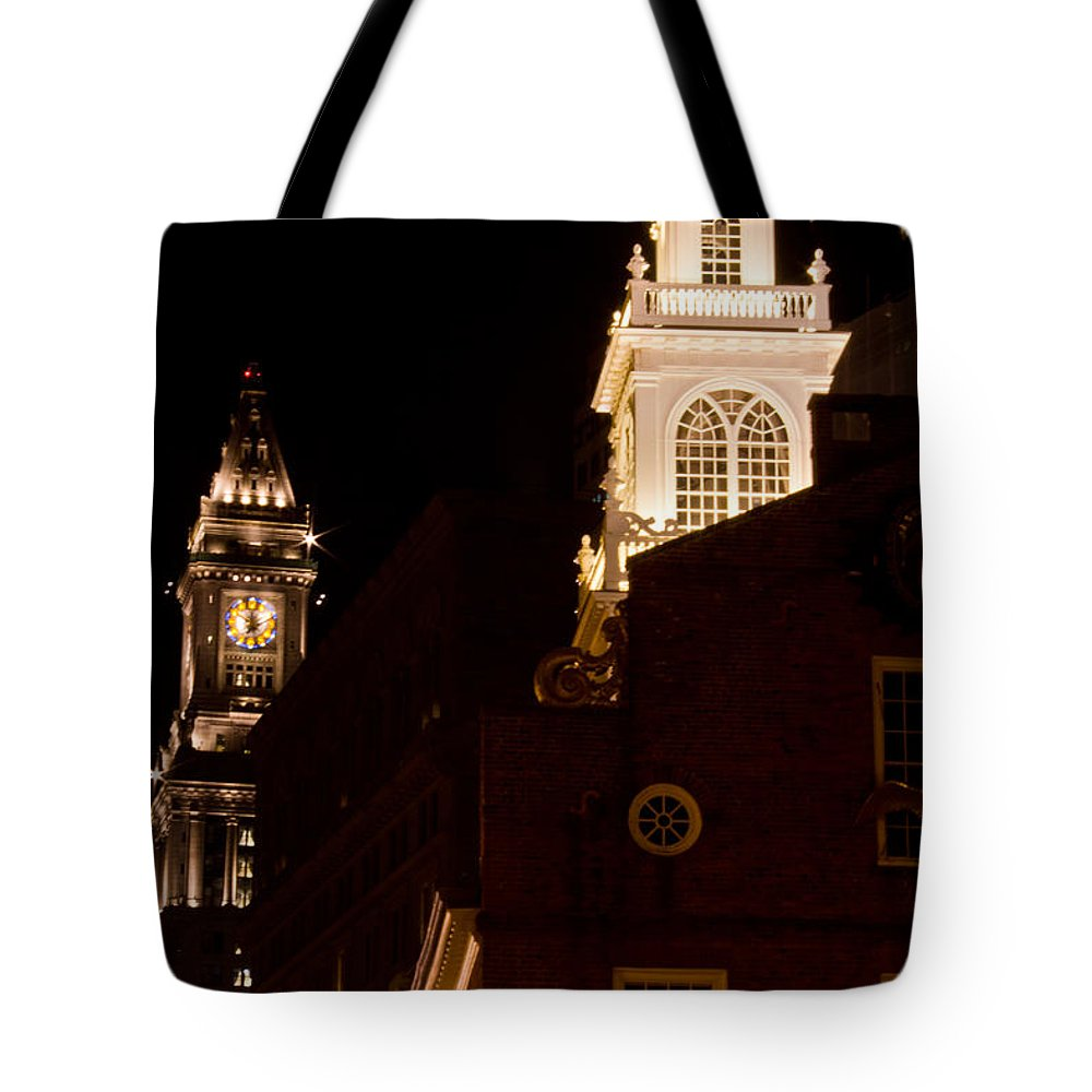 Boston Tote Bag featuring the photograph Old City Hall And Custom House Tower by John McGraw