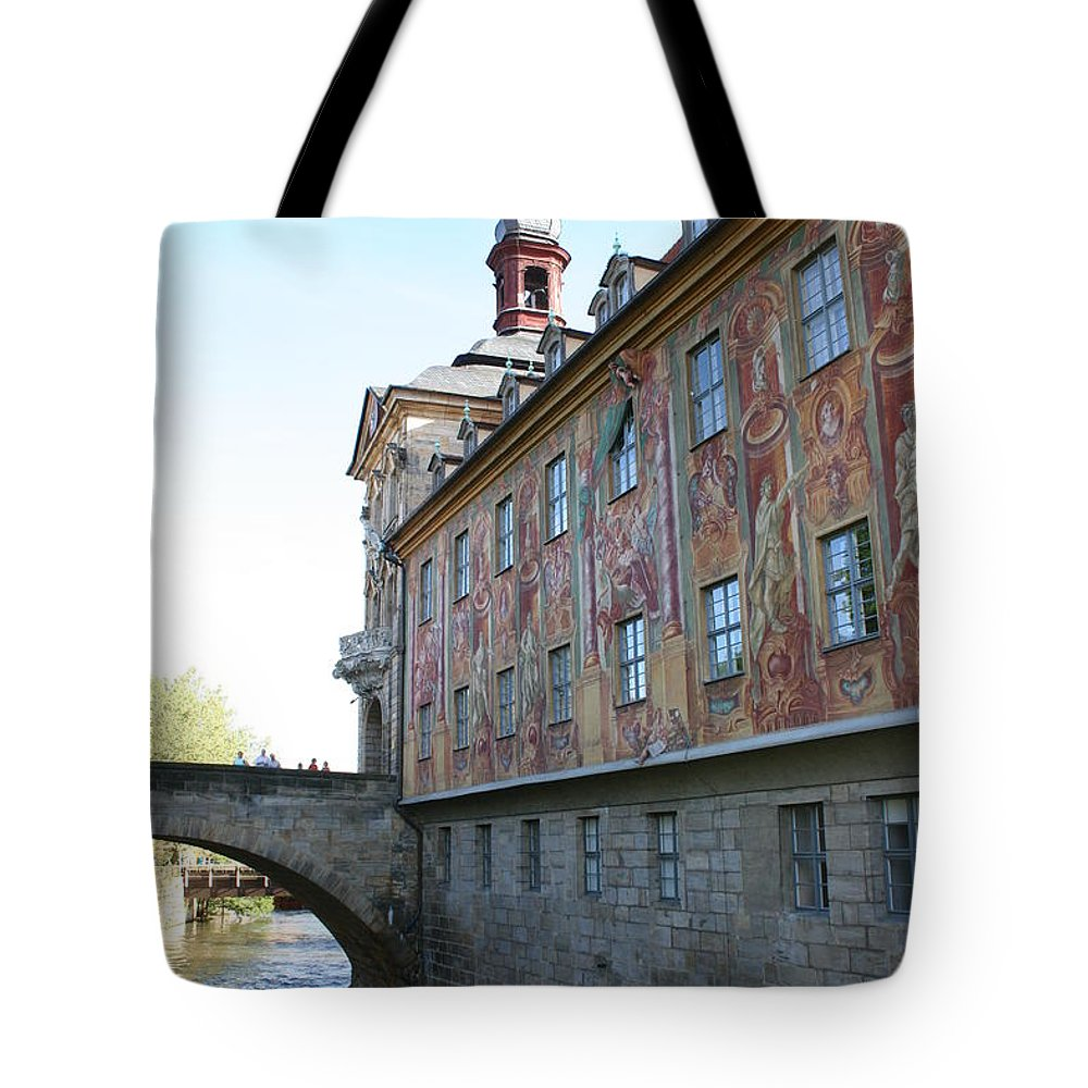 City Hall Tote Bag featuring the photograph Old City Hall - Bamberg - Germany by Christiane Schulze Art And Photography