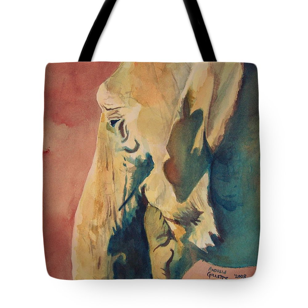 Elephant Tote Bag featuring the painting Old Elephant by Andrew Gillette