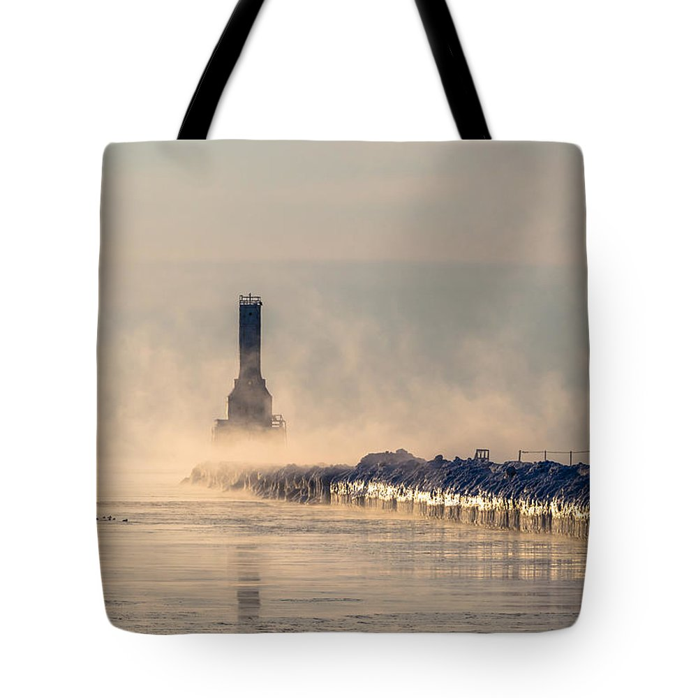 Lighthouse Tote Bag featuring the photograph Old Faithful by James Meyer