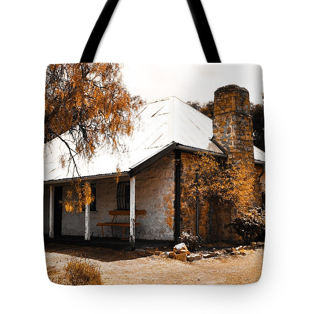 Hdr Tote Bag featuring the photograph Old Farmhouse by Phill Petrovic