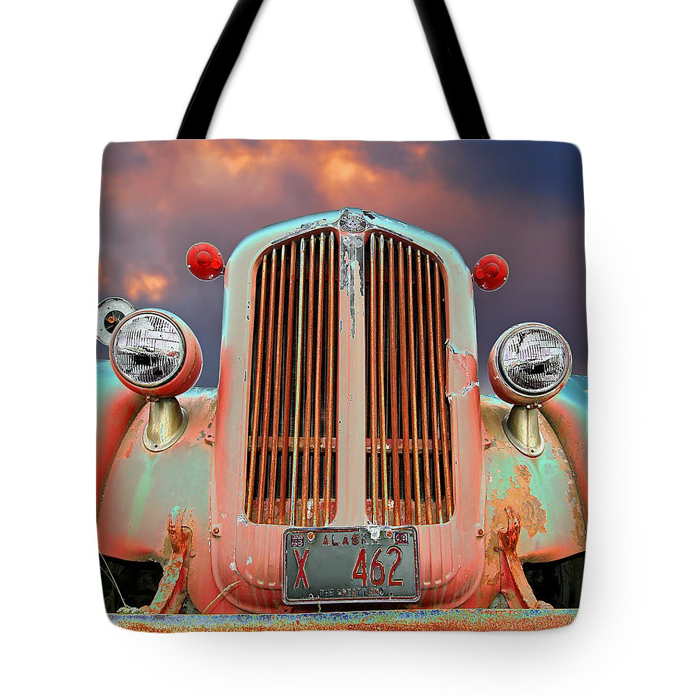 Truck Tote Bag featuring the photograph Old Firefighter by Ron Day