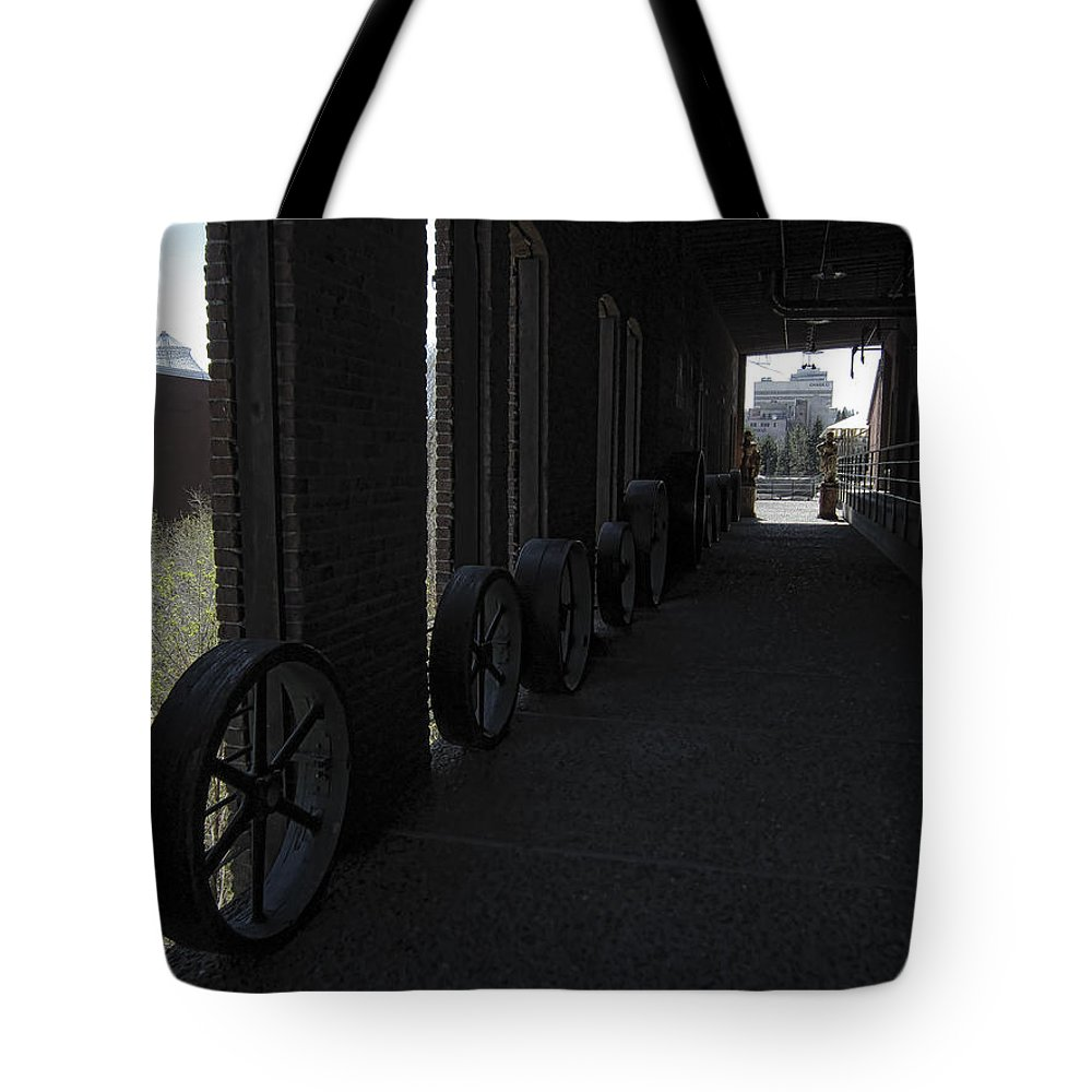Corridor Tote Bag featuring the photograph Old Flour Mill Corridor by Daniel Hagerman