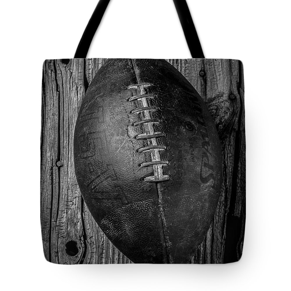 Old Tote Bag featuring the photograph Old Football by Garry Gay