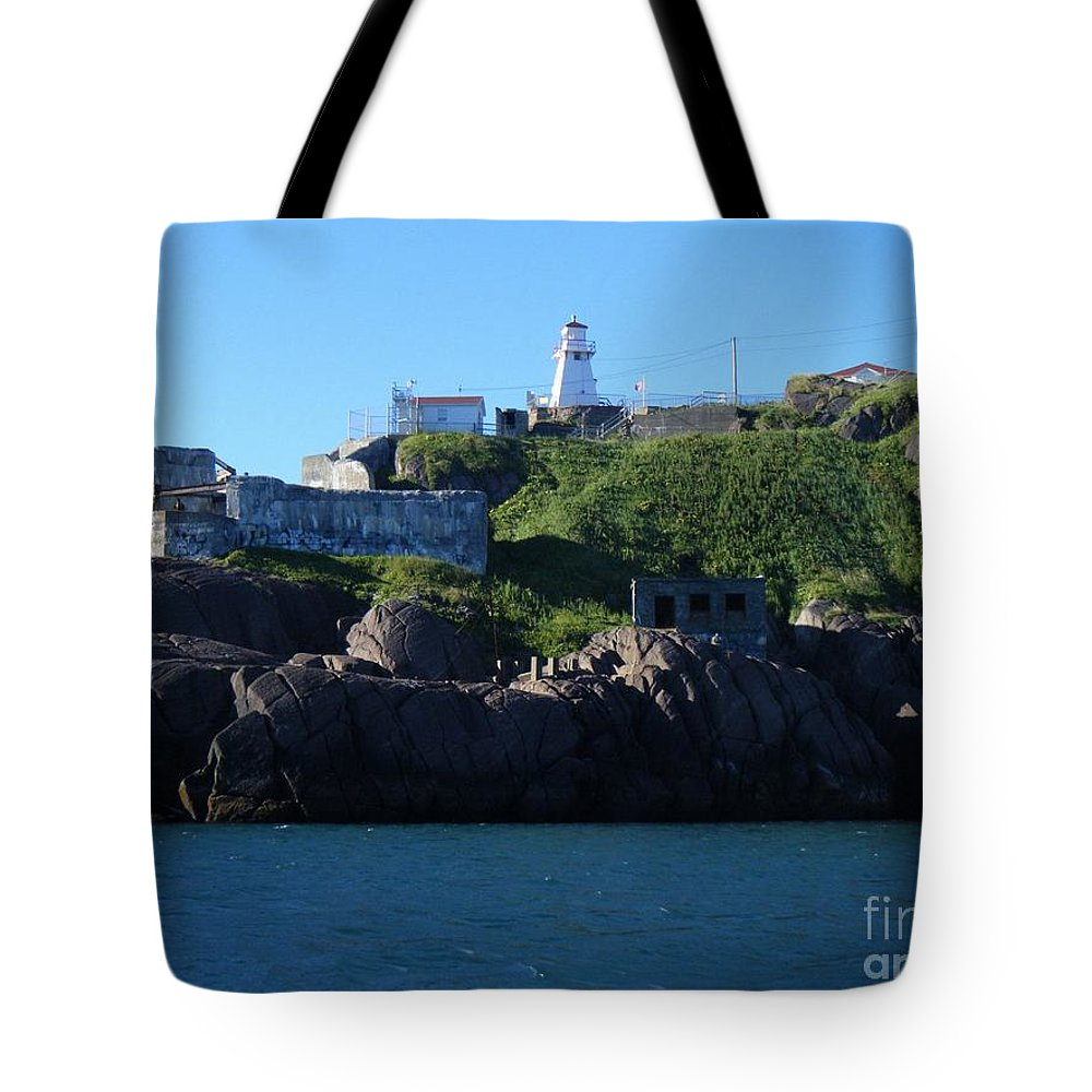 Old Fort Amherst Tote Bag featuring the photograph Old Fort Amherst By Barbara Griffin by Barbara Griffin