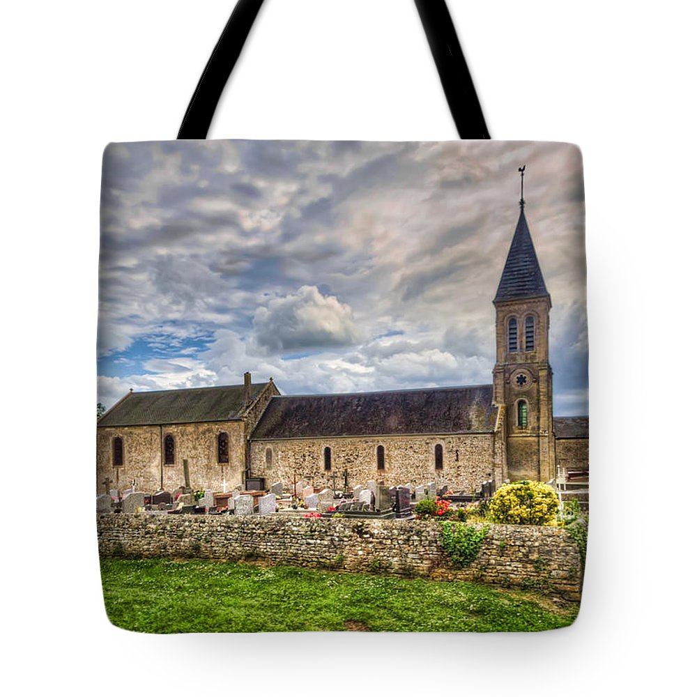 Normandy Tote Bag featuring the photograph Old French Church by Tim Stanley