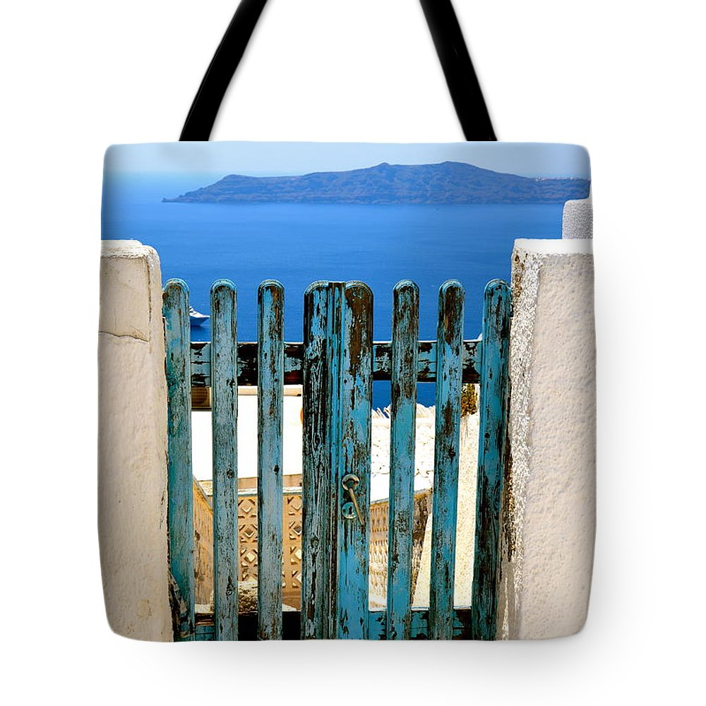 Gate Tote Bag featuring the photograph Old Gate by Corinne Rhode
