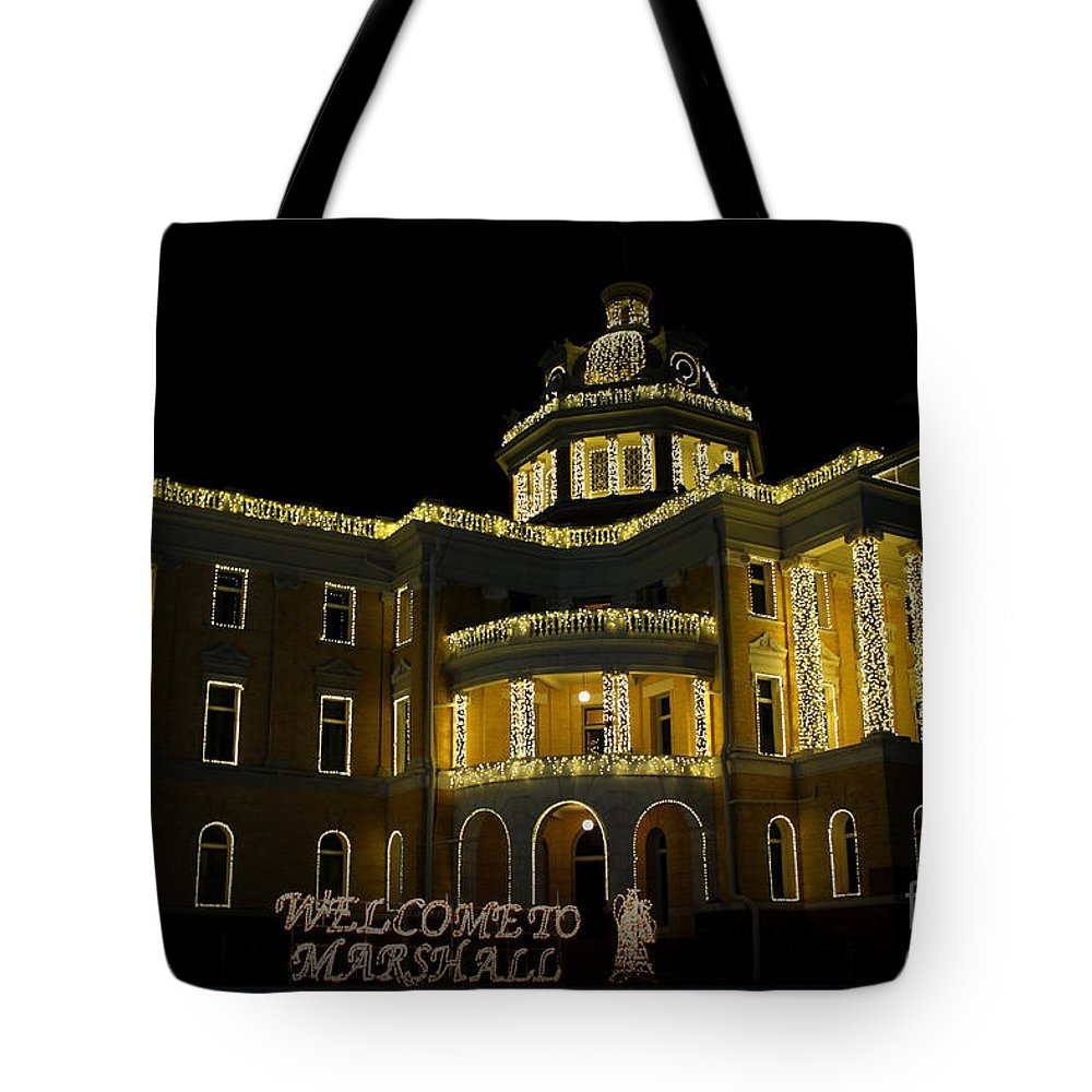 Old Harrison County Courthouse Tote Bag featuring the photograph Old Harrison County Courthouse by Kathy White