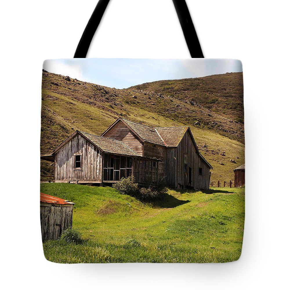 San Luis Obispo Tote Bag featuring the photograph Old Homestead by Art Block Collections