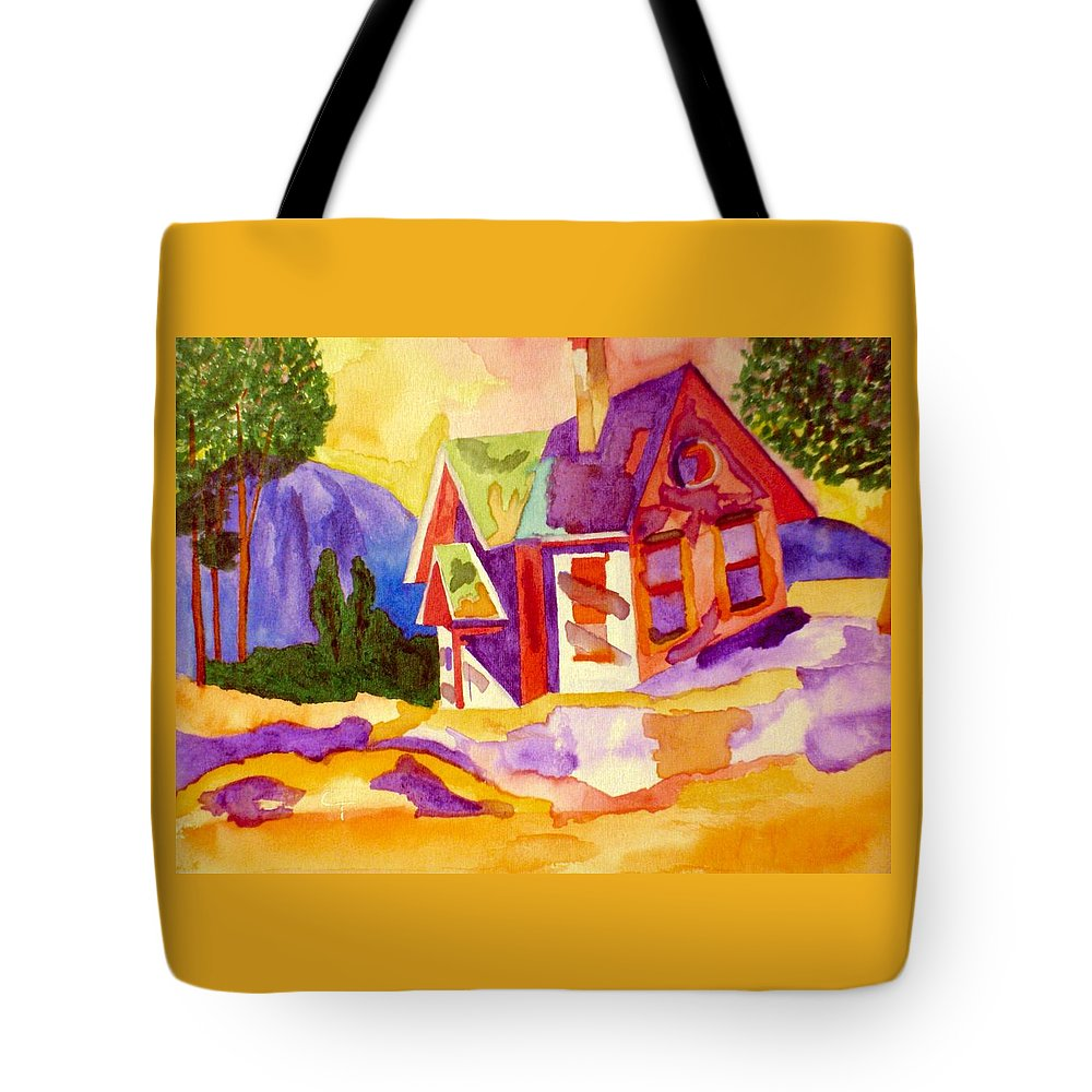 Claudia Thomas Tote Bag featuring the painting Old Homestead by Claudia Thomas