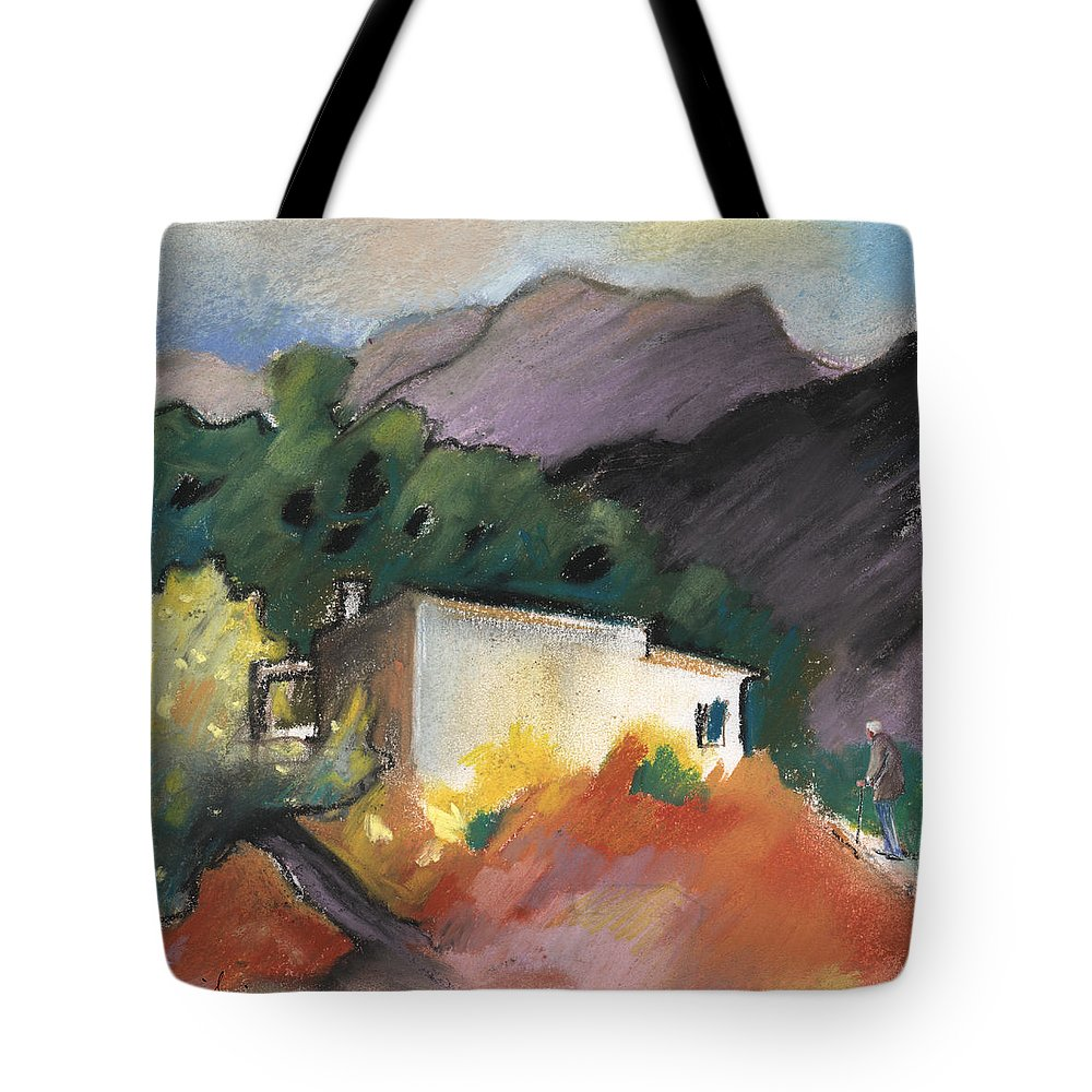 Travel Tote Bag featuring the painting Old House In Altea La Vieja 02 by Miki De Goodaboom