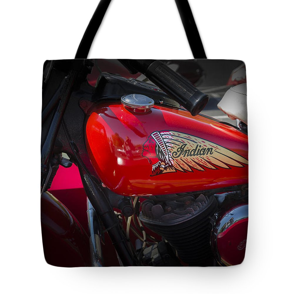 American Tote Bag featuring the photograph Old Indian Cycle by Jack R Perry