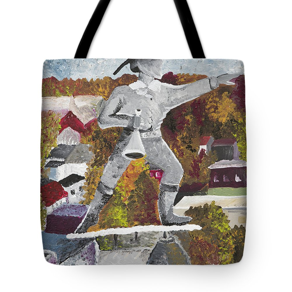 Old Jake Tote Bag featuring the painting Old Jake - Winchester Series by Wendy May
