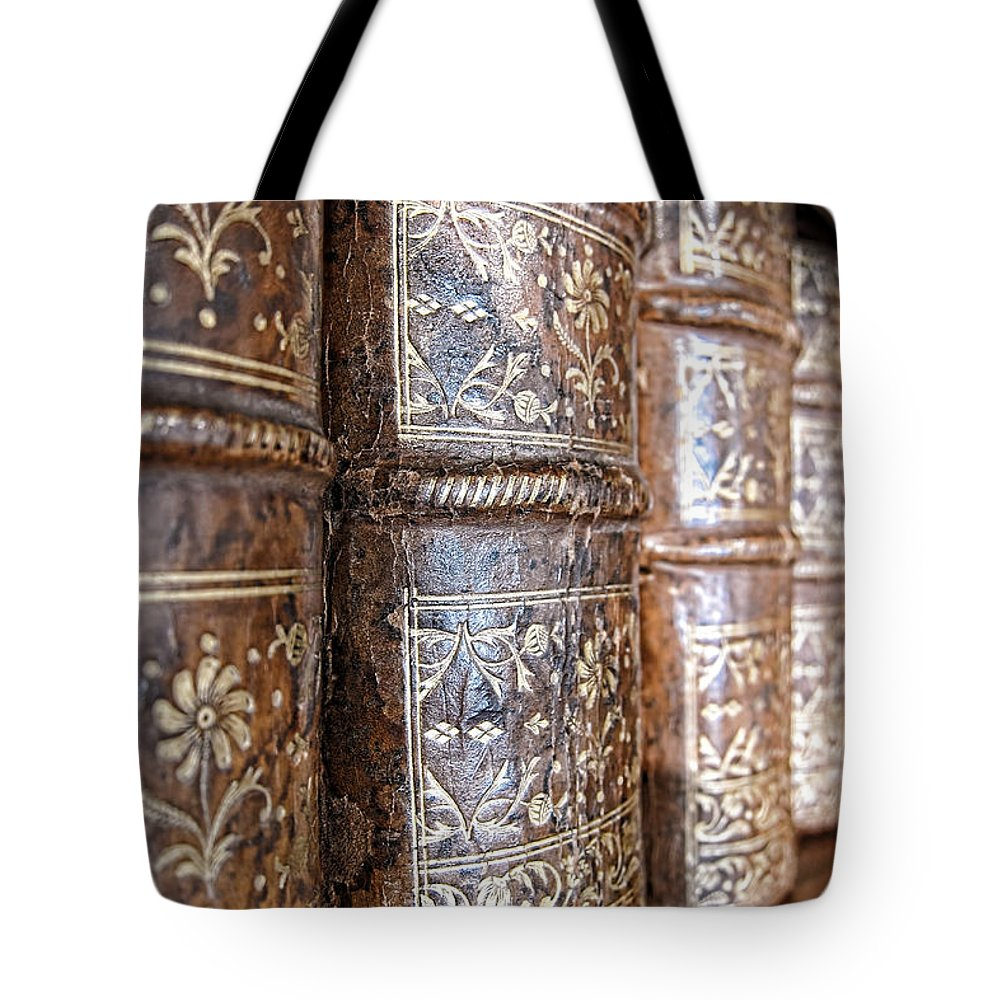 Bookcase Tote Bag featuring the photograph Old Knowledge by Olivier Le Queinec