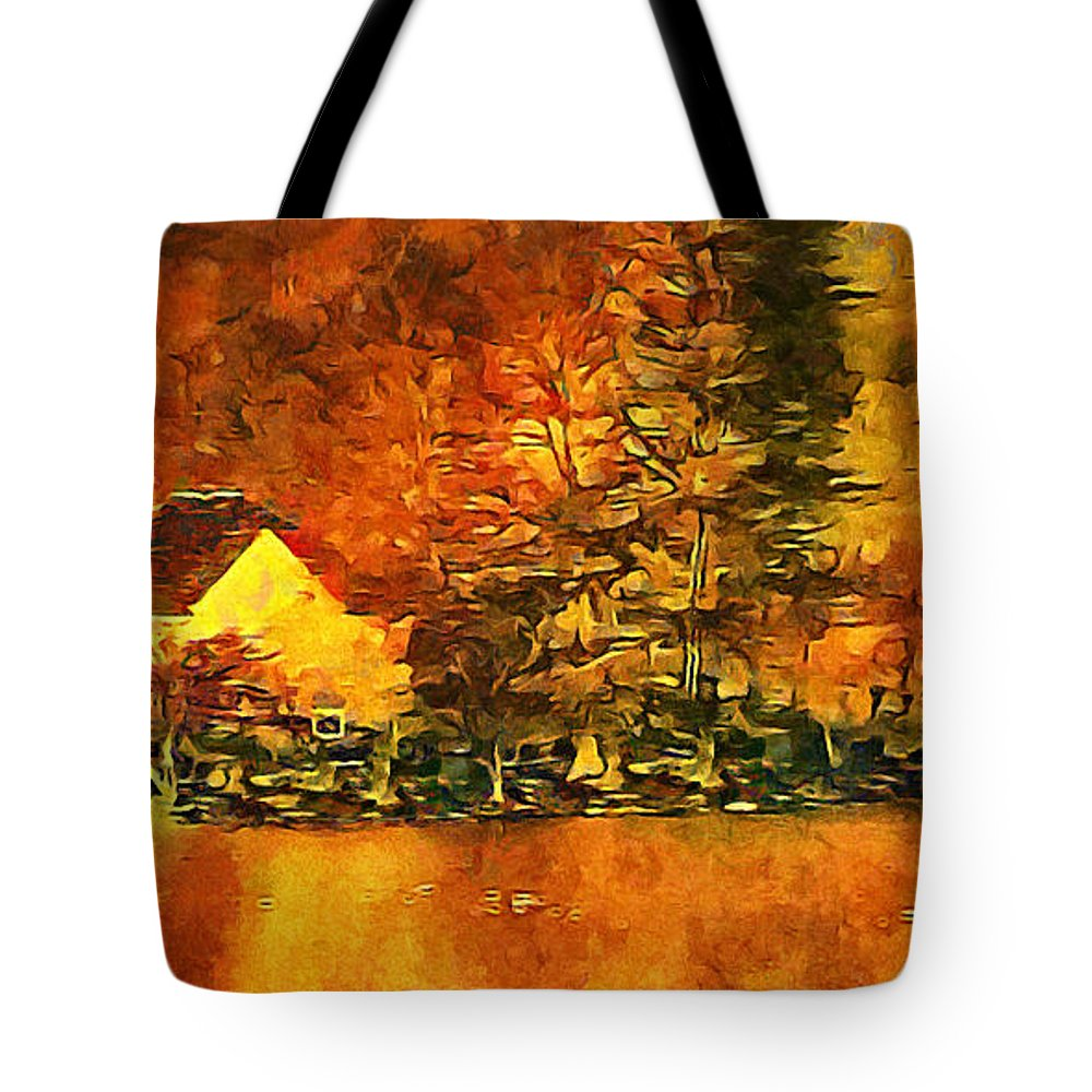 Old Tote Bag featuring the photograph Old Log Cabin by Roman Solar