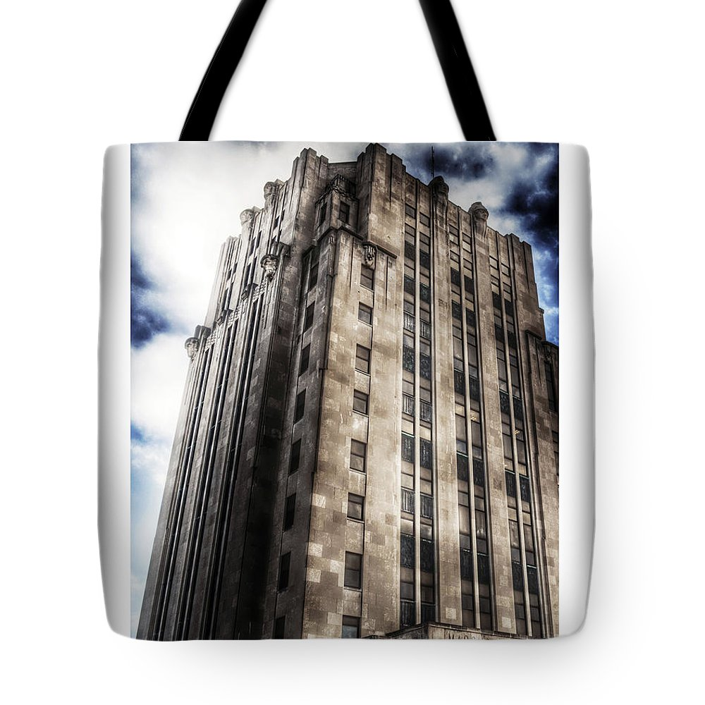 Tall Building Tote Bag featuring the photograph Old Macomb Tower by Donald Yenson