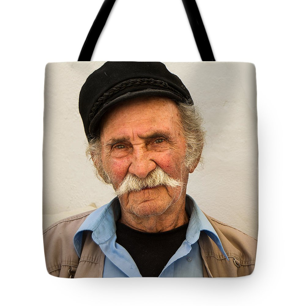 Mykonos Greece Tote Bag featuring the photograph Old Man Of Mykonos by James Gordon Patterson