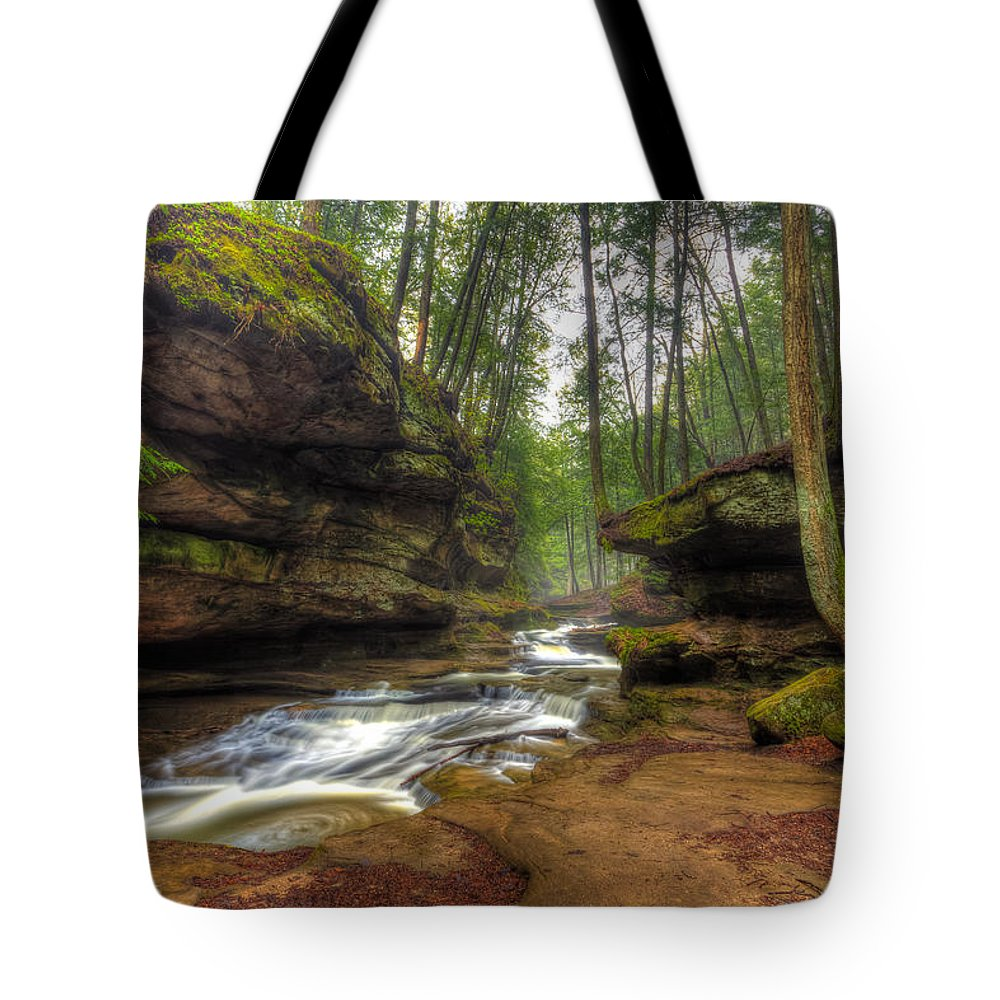 Old Man's Cave Tote Bag featuring the photograph Old Man's Cave by Keith Allen