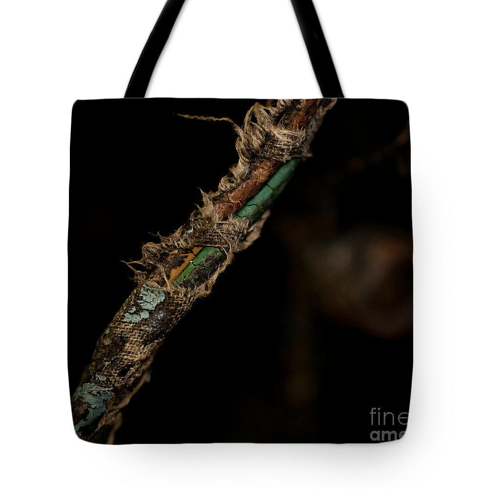 Motorcycles Tote Bag featuring the photograph Old Motorcycle Wiring by Wilma Birdwell