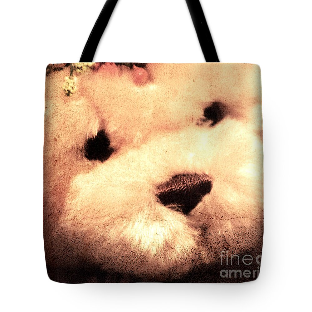 Kids Tote Bag featuring the photograph Old Photo Bear by Robin Lynne Schwind
