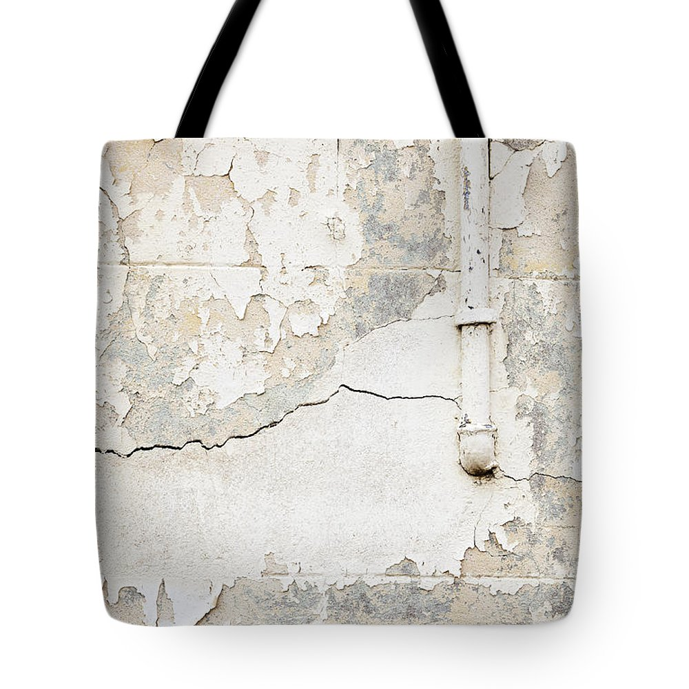 Concrete Wall Tote Bag featuring the photograph Old Pipes Background by Tim Hester