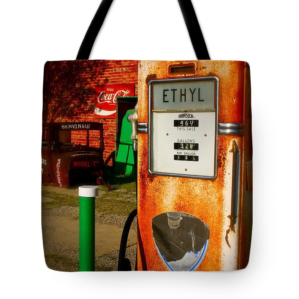 Rt 66 Tote Bag featuring the photograph Old Route 66 by Iconic Images Art Gallery David Pucciarelli