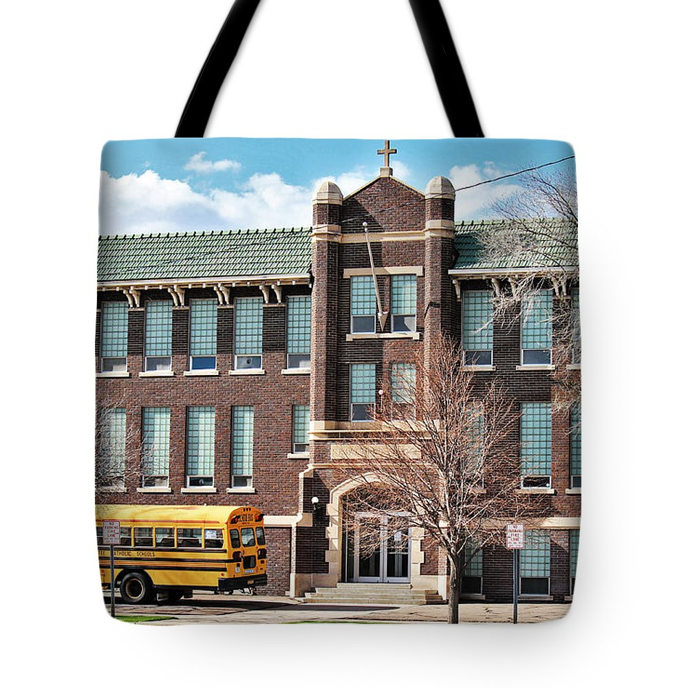 Old School Tote Bag featuring the photograph Old School by Sylvia Thornton