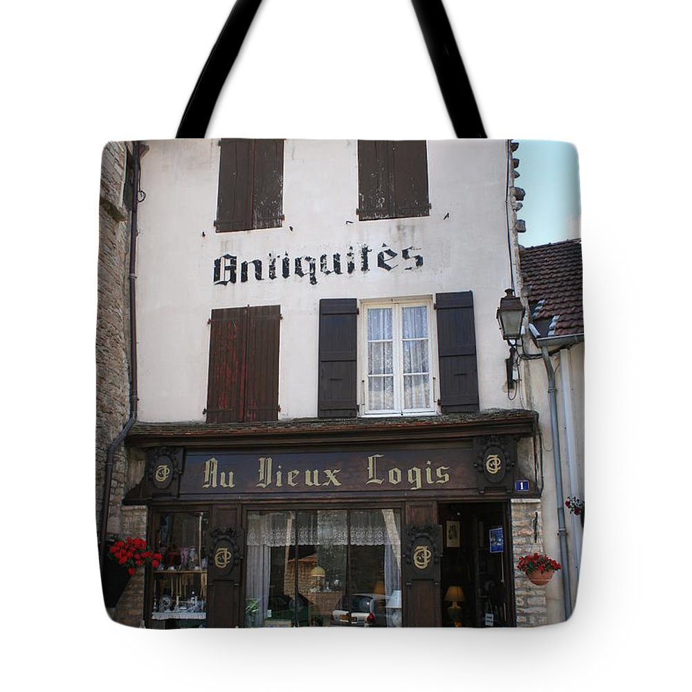 Shop Tote Bag featuring the photograph Old Shop In Tournus by Christiane Schulze Art And Photography