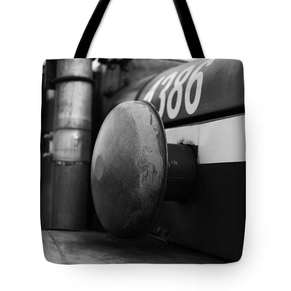 Fire Tote Bag featuring the photograph Old Siren Bw by Pablo Rosales