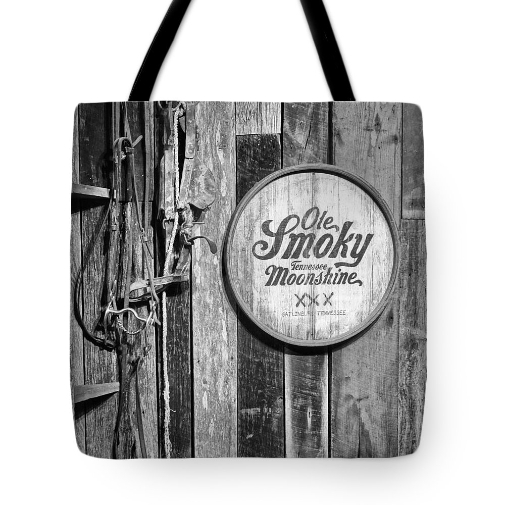 Ole Smoky Moonshine Tote Bag featuring the photograph Ole Smoky Moonshine by Dan Sproul