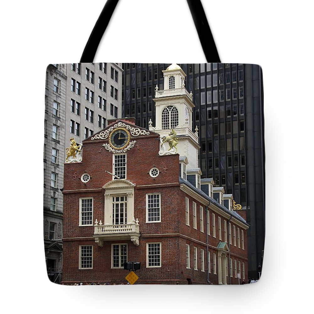 Old State House Tote Bag featuring the photograph Old State House - Boston by Christiane Schulze Art And Photography