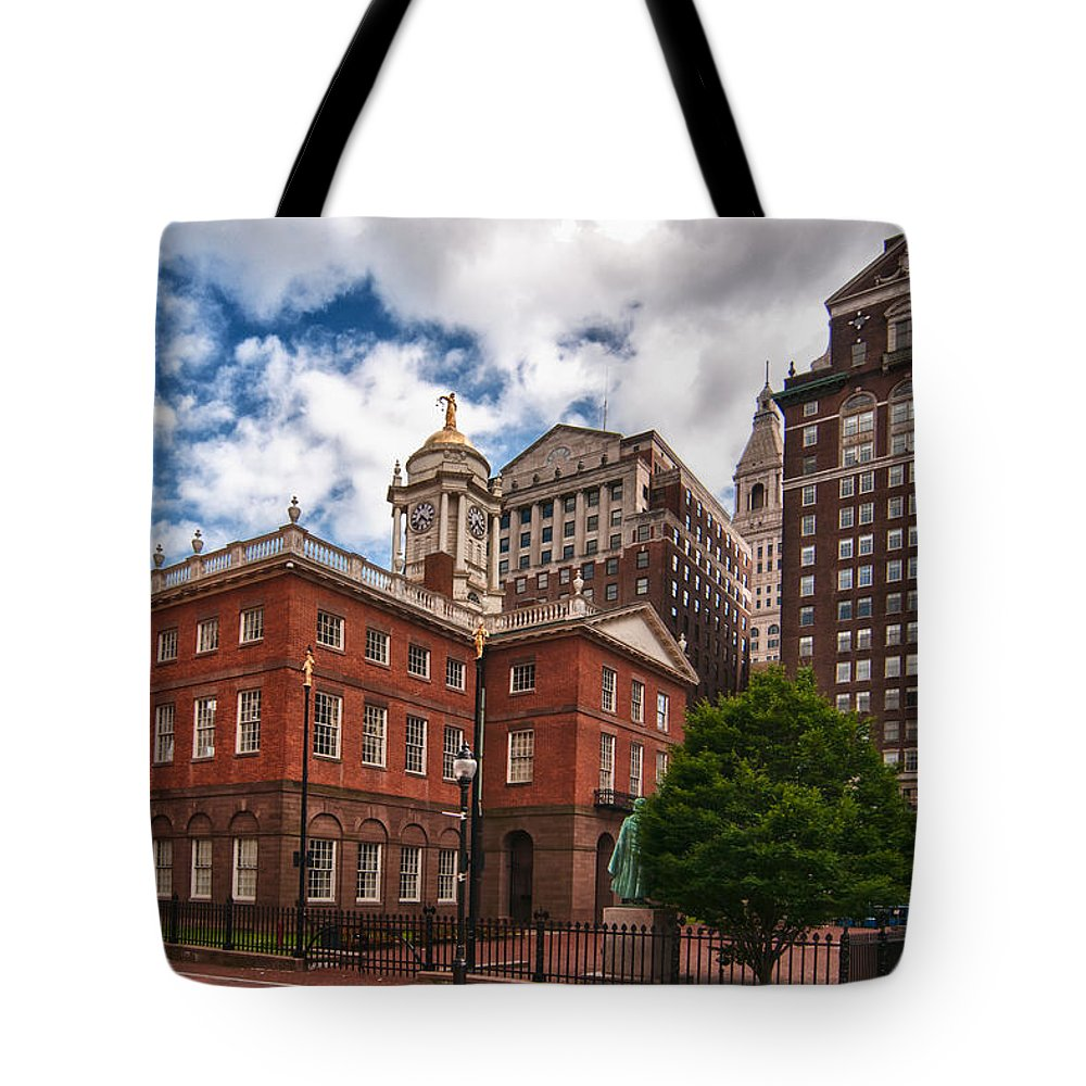 Buildings Tote Bag featuring the photograph Old State House by Guy Whiteley