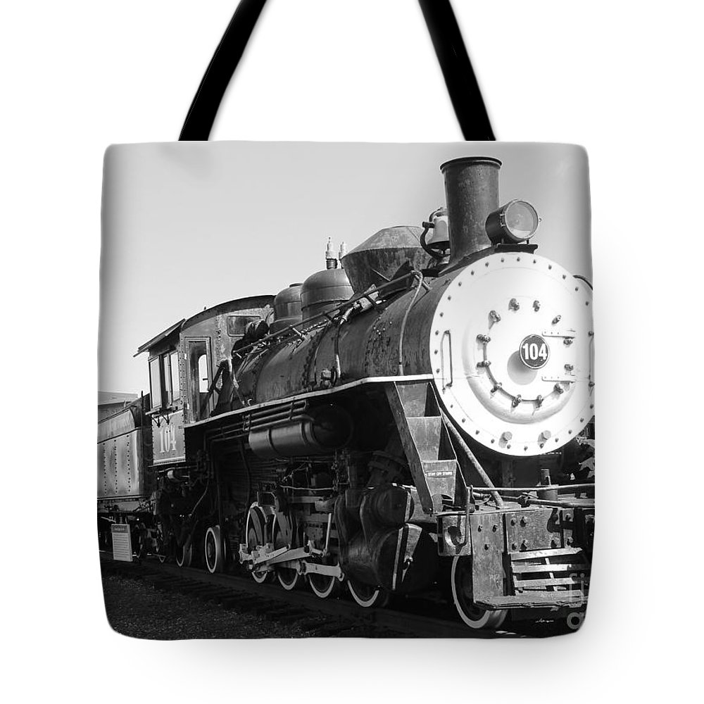 Trains Tote Bag featuring the photograph Old Steam Engine by Kris Hiemstra