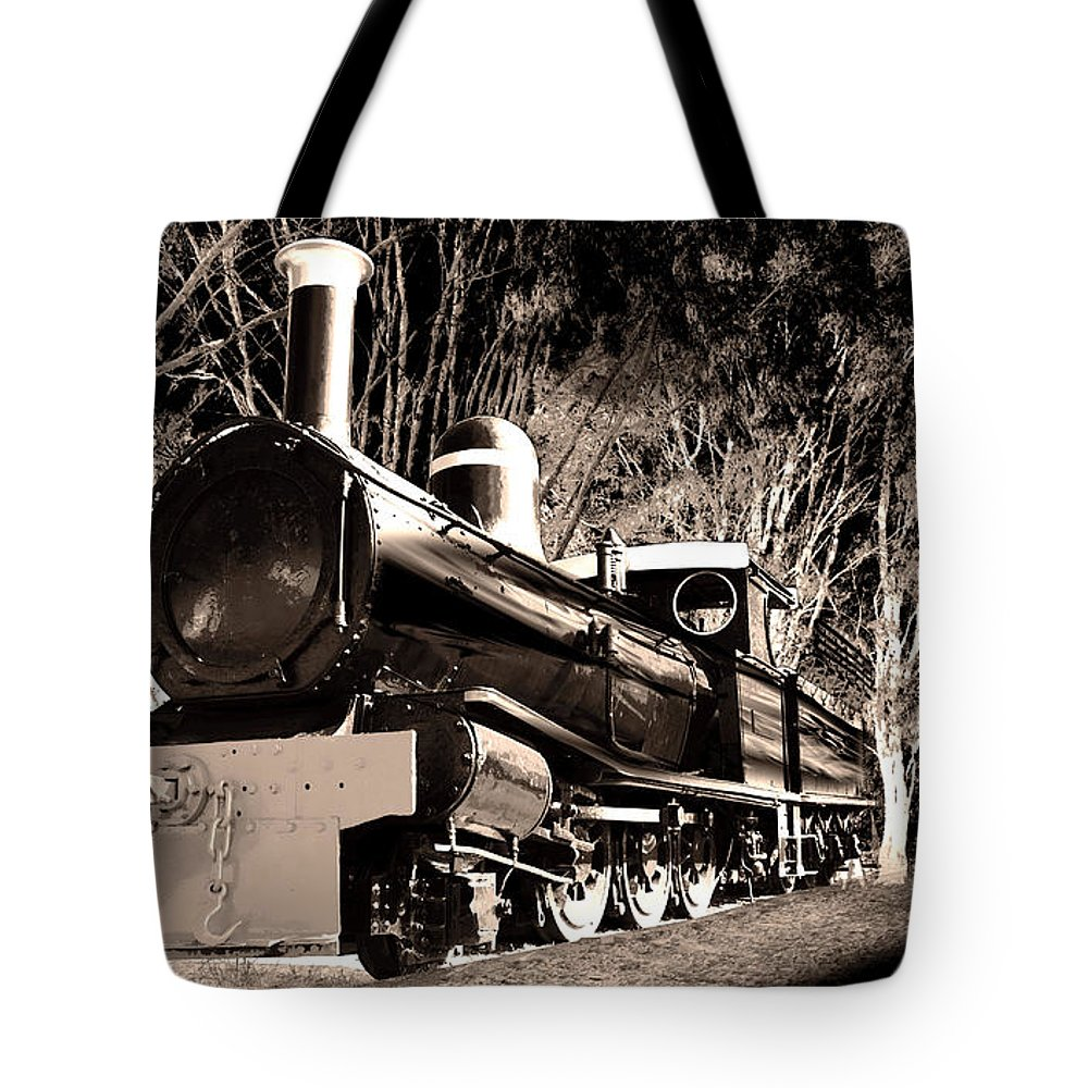 Old Tote Bag featuring the photograph Old Steam Train by Phill Petrovic