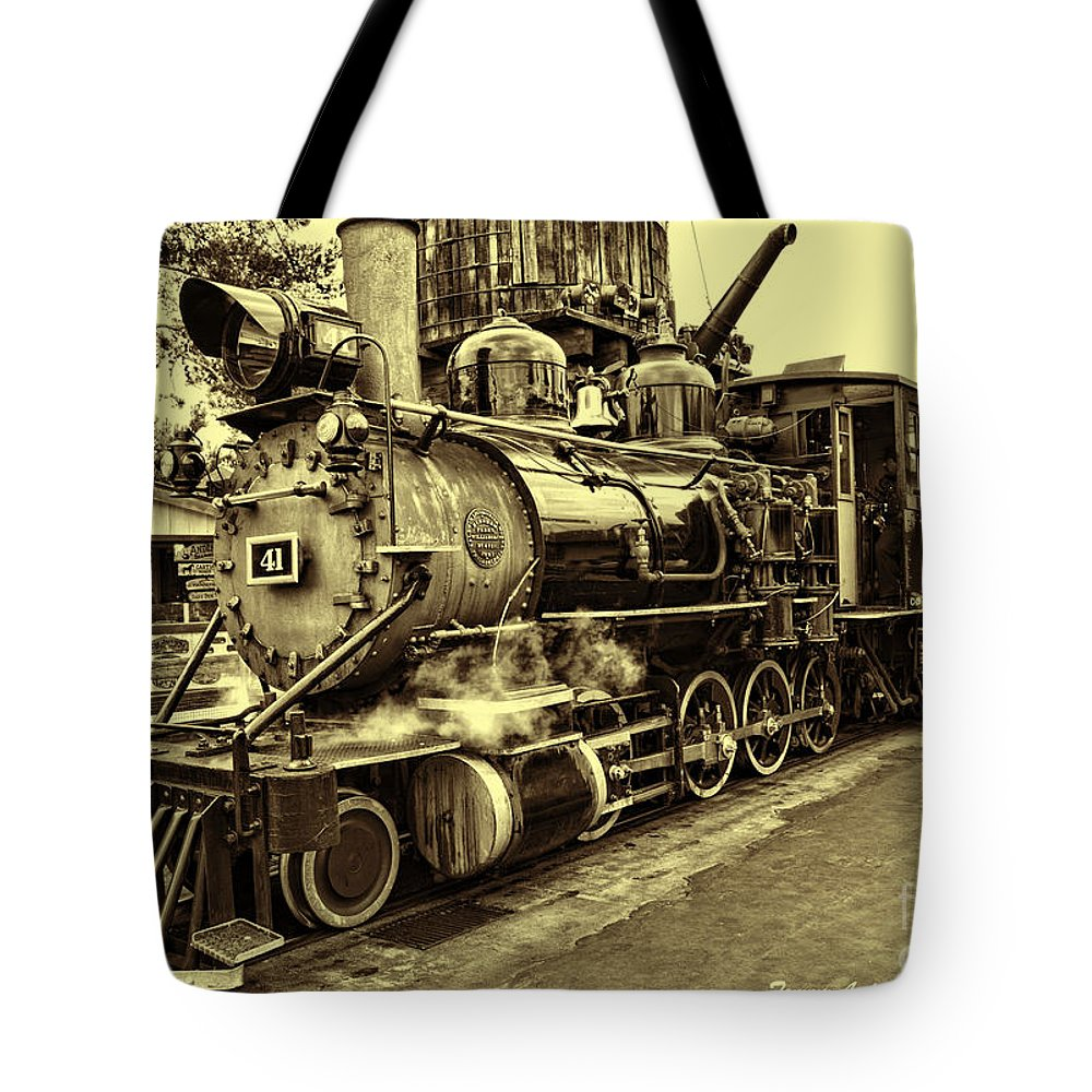Tote Bag featuring the photograph Old Steam Train by Tommy Anderson