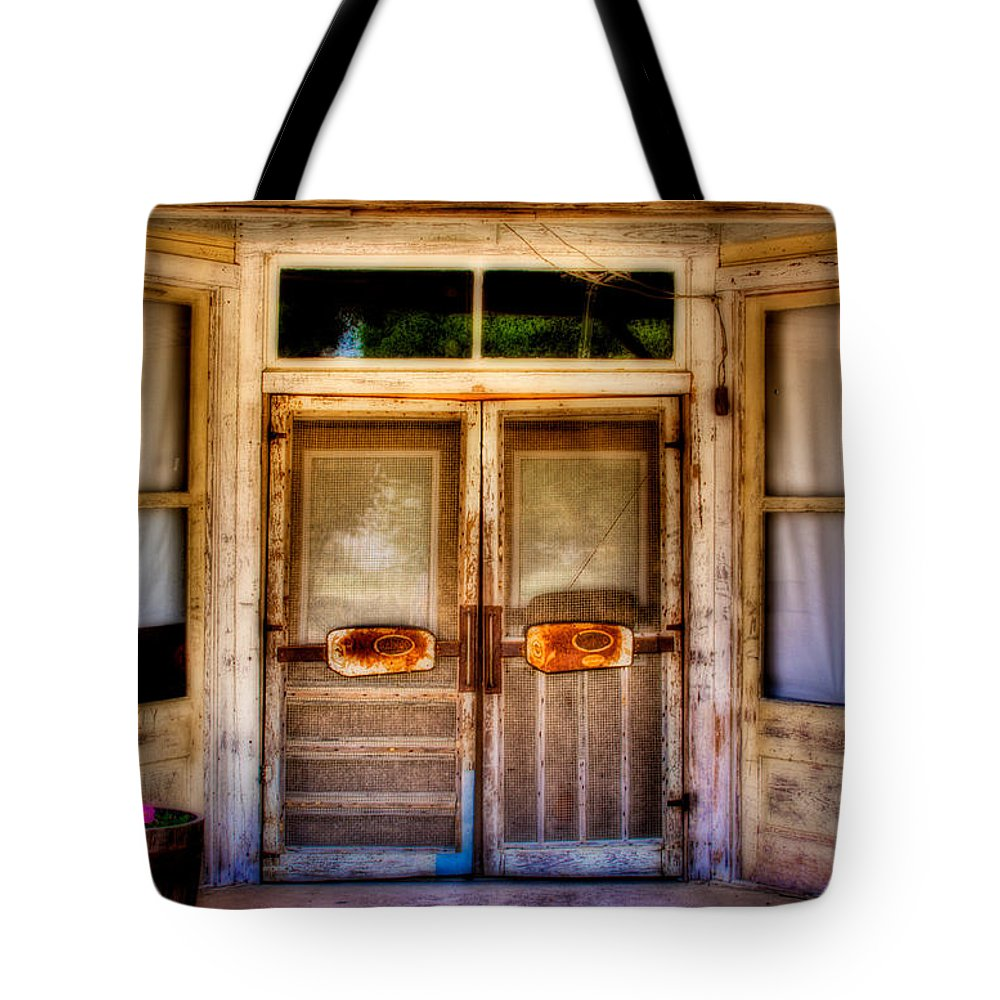 Store Tote Bag featuring the photograph Old Store Front by David and Carol Kelly