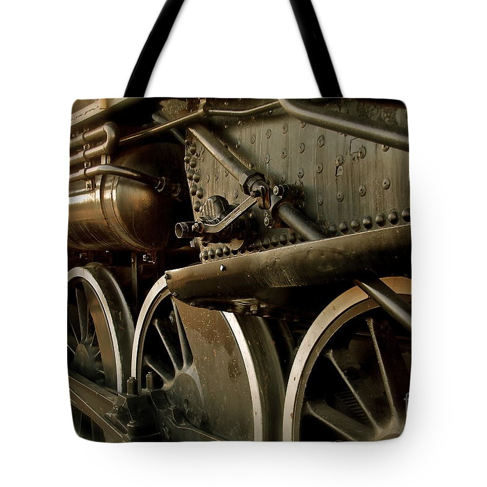 Train Tote Bag featuring the photograph Old Timer by Rick Monyahan
