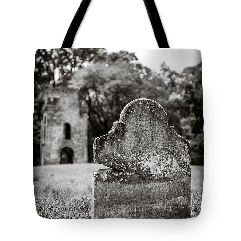 Charleston South Carolina Landmark Tote Bag featuring the photograph Old Tombstone by Sennie Pierson