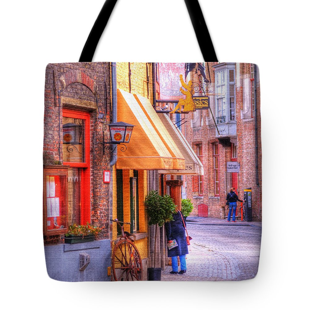 Antique Tote Bag featuring the photograph Old Town Bruges Belgium by Juli Scalzi