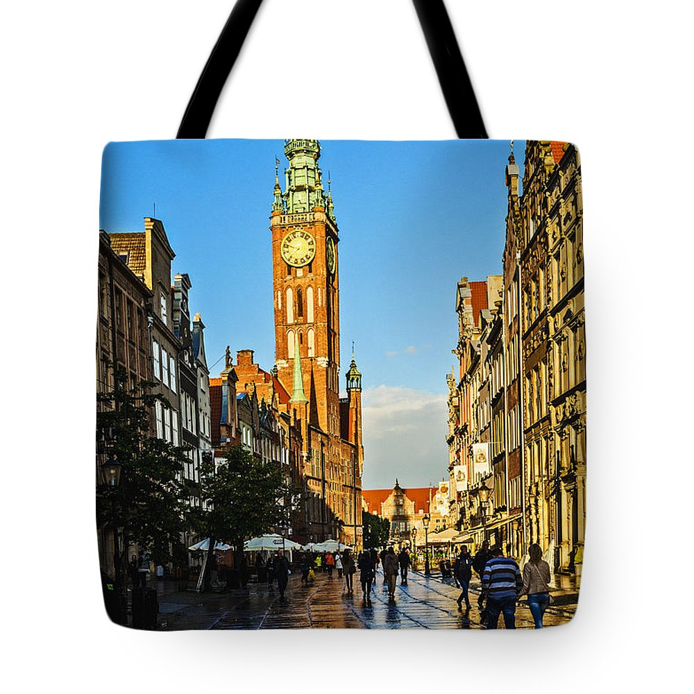 Old Town Gdansk Old Town Tote Bag featuring the photograph Old Town Gdansk Poland by Zbigniew Krol