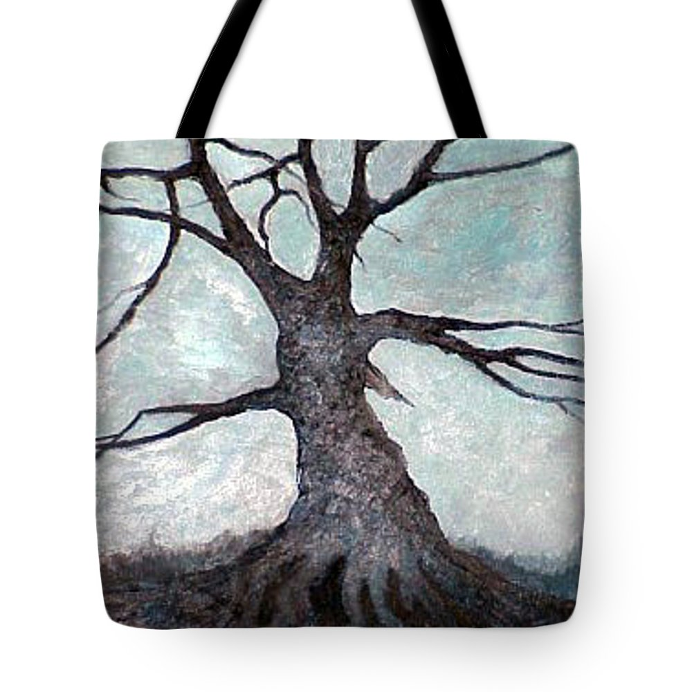 Landscape Tote Bag featuring the painting Old Tree by Sergey Bezhinets
