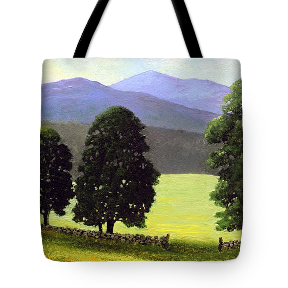 Landscape Tote Bag featuring the painting Old Wall Old Maples by Frank Wilson